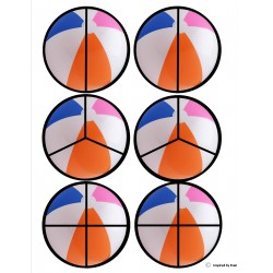 """Beach Ball"" Fraction Circles for Autism"