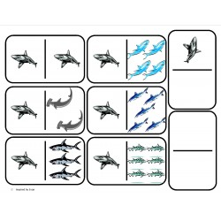 """Sharks"" Domino Math"
