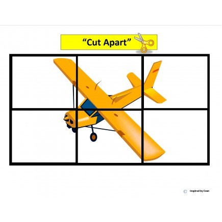 """Airplane"" Simple Puzzles for Autism"