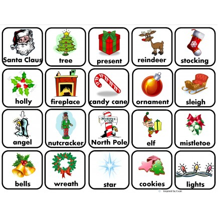 Christmas Words.Christmas Words For Autism