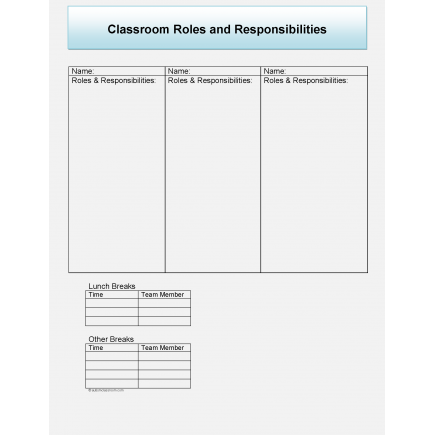 Organization Sheets for Autism Classrooms