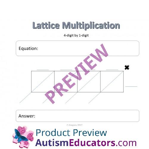 Multiplication Math Sheets