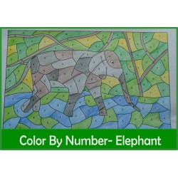 Color By Number Elephant Differentiated 3 Levels