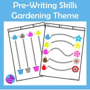 Pre-Writing Drawing Pencil Skills Fine Motor Gardening Theme