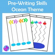 Pre-Writing Pencil Drawing Skills Ocean Theme