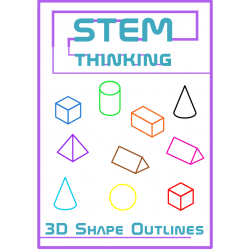 3D Shape Outlines Math Clip Art