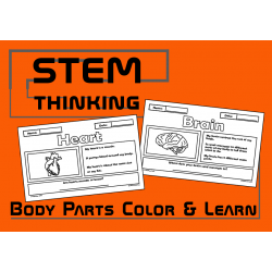 Parts of the Body Color and Learn Science Activities