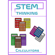 Calculators Back to School Math Clip Art -3 Designs in 10 Different Colors