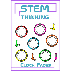 Clock Faces and Hands Telling the Time Math Clip Art