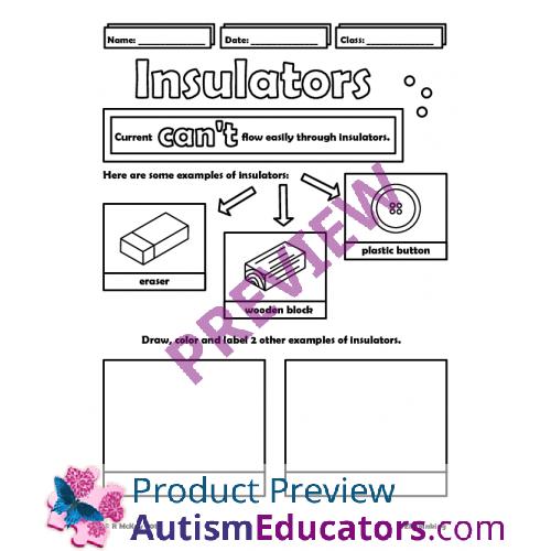 Conductors And Insulators Worksheet Templates and Worksheets – Conductors and Insulators Worksheet