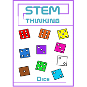 Dice Clip Art- 10 Different Colors , Math, Games, Activities, 60 Images