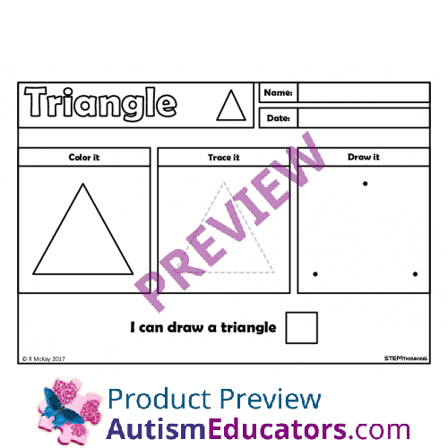 Draw Trace 2D Shapes Worksheets STEM – 2d Shapes Worksheets