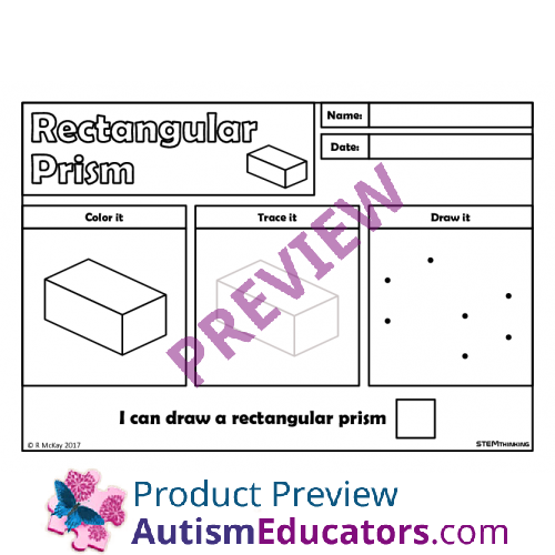Draw Trace 3D Shapes Worksheets STEM – 3d Shapes Worksheets
