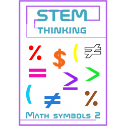 Math Symbols Clip Art Set 2 - Percent, Dollar, Brackets, Greater Than, Equal
