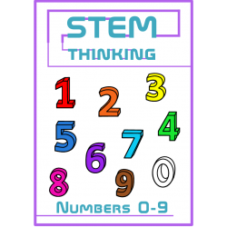 3D Numbers 0-9 Clip Art- 100 Images, Math, Counting