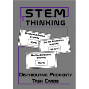 The Distributive Property Math Task Cards