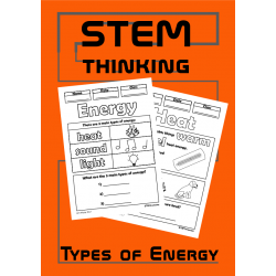 Types of Energy Color and Learn Science Activity