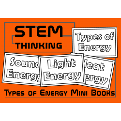Types of Energy Color and Learn Mini Foldable Books