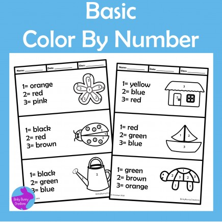 Simple Color By Number
