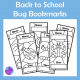 Bugs Insects Color in Bookmarks, Back To School