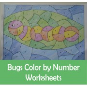 Bugs Insects Color By Number with Differentiated Codes