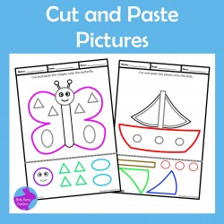 Cut & Paste Picture Craftivities for Fine Motor Skills