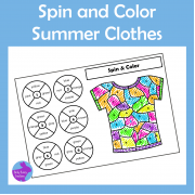 Summer Spin & Color Activity, ESY