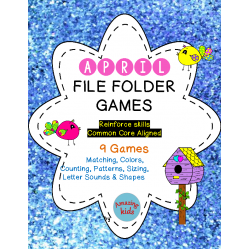 April File Folder Games - FREE - Math & Reading Skills