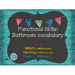 Functional Skills: Bathroom Vocabulary Games