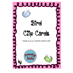 Bird Clip Cards Counting 0-20