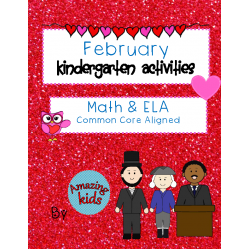 February – Kindergarten Activities - Math & Reading Skills