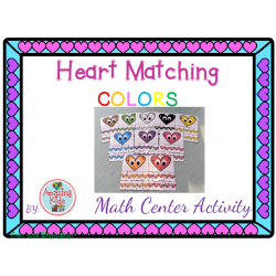 Heart Matching Colors – Math Center Activity