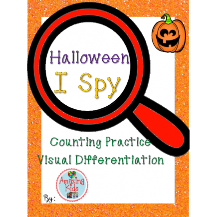 Halloween I Spy - Math - FREE