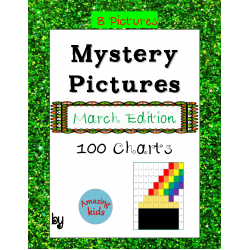 Mystery Pictures - March Edition - Math 100 Chart Numbers