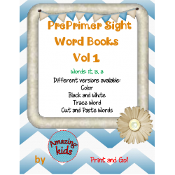Preprimer Sight Word Books Vol 1 FREE