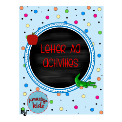 Alphabet Activities - Letter A - FREE