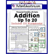 Addition With Sums Up To 20 For Visual Learners AUTISM