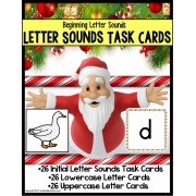 Santa Claus LETTER SOUNDS Task Cards for Christmas for Students with Autism