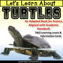 Adapted Books for Special Education SCIENCE | Learn About TURTLES