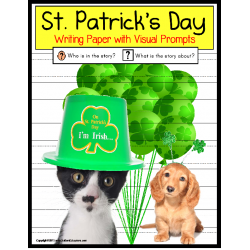 St. Patrick's Day FREE Writing Papers with Visual Support