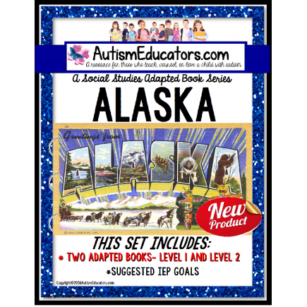 ALASKA State Symbols ADAPTED BOOK for Special Education and Autism