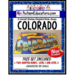 COLORADO State Symbols ADAPTED BOOK for Special Education and Autism