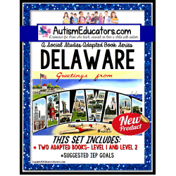DELAWARE State Symbols ADAPTED BOOK for Special Education and Autism