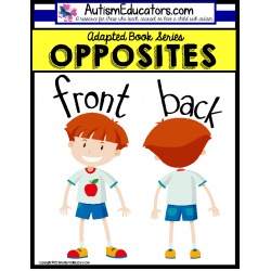 OPPOSITES Adapted Books FRONT and BACK for Autism and Special Education