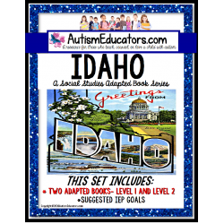 IDAHO State Symbols ADAPTED BOOK for Special Education and Autism