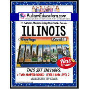 ILLINOIS State Symbols ADAPTED BOOK for Special Education and Autism