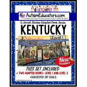 KENTUCKY State Symbols ADAPTED BOOK for Special Education and Autism