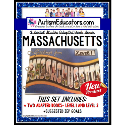 MASSACHUSETTS State Symbols ADAPTED BOOK for Special Education and Autism