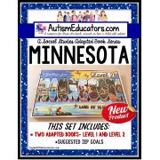 MINNESOTA State Symbols Adapted Book for Special Education and Autism