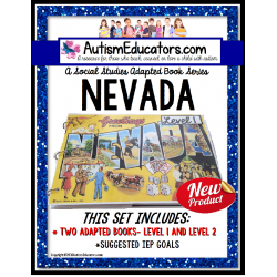 NEVADA State Symbols ADAPTED BOOK for Special Education and Autism